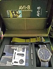 Orologio Uomo AVI-8 FLYBOY Box Set Regalo + Survival Kit + Cinturino +Cacciavite