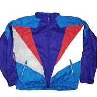 Vintage Men's 90's Colorful Windbreaker Ski Jacket Nylon Size XL