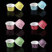 20x New Mini Paper Cake Cup Liners Baking Cupcake Cases Muffin Cake Colorful 3C