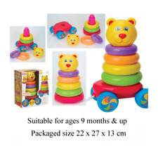 Baby Funtime Pull Along Stacking Teddy Toy 9mths
