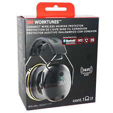NEW 3M WorkTunes HEARING PROTECTOR Bluetooth Hi-Fi SOUND EAR MUFF HEADSET HQ NiB