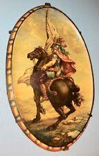 Edouard Tourteau Bruxelles faïence plat décor à l'antique cavalier romain