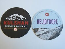Beer Coaster ~ KULSHAN Brewing Co Heliotrope IPA ~ Bellingham, WASHINGTON ~ Mtns