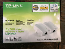 TP-Link TL-PA4010KIT AV500 Nano Powerline Adapter Starter Kit NEW SEALED