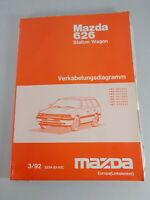 Workshop Manual Mazda 626 Station Wagon Electric/Schematics Stand 03/1992