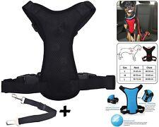 Pet Dog Car Seat Belt Safety Chiot Breathable Air Double Mesh Lead Noir Medium
