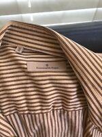 Ermenegildo Zegna button down striped shirt long sleeve Mens Large 41 16