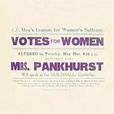 Coaster VOTES FOR WOMEN Mrs Pankhurst Suffragettes Vintage Retro gift New