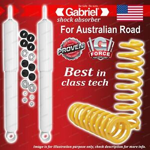 Rear Gabriel Ultra LT Shocks + King Springs for Toyota Hilux LN130 VZN130 KZN130
