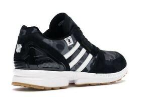 adidas ZX 8000 Bape Undefeated Black FY8852 Men's 6.5UK Shoes Women's 6.5UK Rare