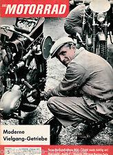 Das Motorrad Heft 3 3.Februar 1962 Moderne Vielgang Getriebe Bianchi 350ccm
