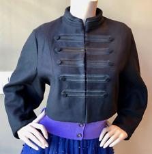 Zara black cropped military style jacket blazer size M
