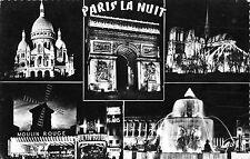 BR48028 Paris la nuit de gauche a droite le sacre coeur       France