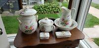 Antique Porcelain 12 Piece Chamber Set by Haviland & Co Limoges France