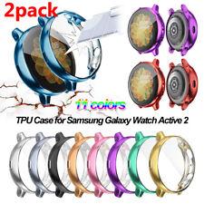 2 Funda Tpu Completo Protector de pantalla para Samsung Galaxy Reloj activo 2 40/44 mm