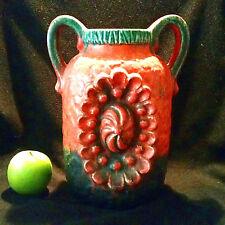 Herrlich designte Fat Lava Vase Dümler u Breiden Dekor Juwel 70er 51/25 Relief
