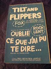Partitura Tilt and Máquinas de pinball Ledru Oublie ce que j'ai pu te decir 1957