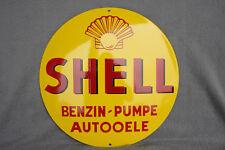 Shell Benzin Pumpe Schild Enamel sign Emailschild ECHTE Emaille 40 cm