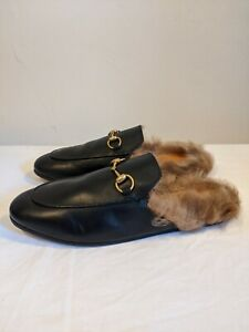 Gucci Women's 'Princetown' Fur Loafers Size 4