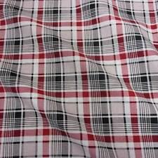 Stoff Baumwolle Meterware Tartan beige schwarz rot Schottenkaro Druck kariert