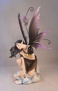 "STAR CATCHER FAIRY, Beautiful Tattooed Fairy Gathering Stars, 9.5"" Tall"