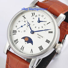 Retro Parnis 42mm Hand Winding Movement GMT Function Watch Classic Wristwatches