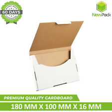 500x SuperFlat Mailing Box flat 180 x 100 x 16mm Rigid Letter Envelope Size Mail