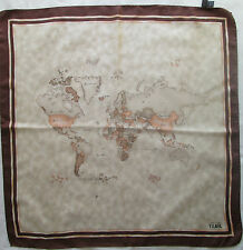 -Authentique Foulard tour de cou ALVIERO MARTINI 100% soie  TBEG vintage scarf