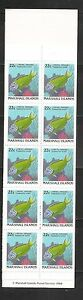 Marshall Islands SC # 173a Fish. Complete Booklet. MNH