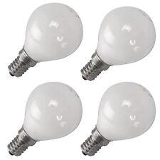 4x Opal Golf Ball 40W E14 SES Small Edison Screw Light Bulbs Globe Dimmable P45