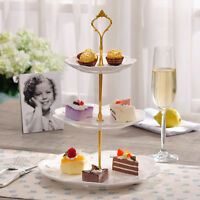 3 Tier Cupcake Plate Stand Stainless steel Wedding Birthday Cake Display Tower