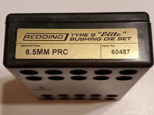 60487 REDDING TYPE-S ELITE BUSHING 3-DIE SET - 6.5 PRC - NEW FOR 2020!