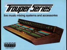 Rare 1977 Uni-Sync Trouper Series I II III IV Live Music Mixers Dealer Brochure