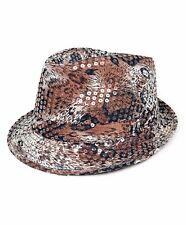 Summer Spring Animal Print Sequin Fedora Hat (H5625) c2aad7934e22