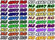 CUSTOM BOAT PWC JET SKI SEA DOO REGISTRATION HULL ID # NUMBER DECAL STICKER 928