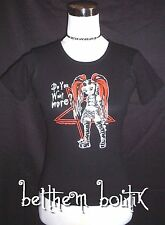 Goth : T-Shirt TOP MC 'Do You Want More' NOIR Manga Punk Gothique