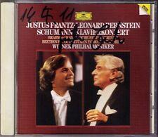 Justus FRANTZ Signed SCHUMANN Piano Concerto BERNSTEIN CD BEETHOVEN Egmont