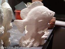 FISH BLUEGILL SUNFISH SPORTS READY TO PAINT CERAMIC BISQUE 5.5 INCH Handmade