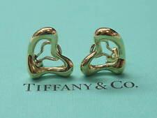 Tiffany & Co Elsa Peretti 18Kt Heart Huggie Yellow Gold Earrings 17mm