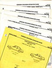 FIAT 124 SPORT COUPE SPIDER THRU 1972 BODY PART FRAME CRASH SHEETS ORIGINALS MF2