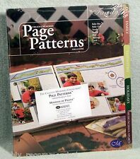 Creative Memories Page Patterns Organizer Tabbed Dividers FAMILY Set of 8 - NIP