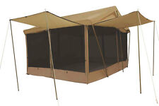 8 AWNINGS 14' x 10' CANVAS SCREEN HOUSE TENT  w/Custom Fly  - By TREK FREE SHIP
