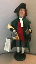 Byers Choice 2002 Williamsburg Man with Sheet Music, Holly and Lantern
