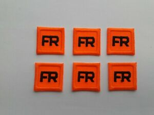 6 - Orange Replacement FR Patches Iron On Fire Retardant Pants Shirt Jacket Tag