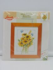 Lanarte Cross Stitch Kit Counted DIY Flowers Small 12.5 x 15.5cm 34539