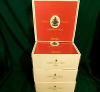 I2 - Spode England Christmas Tree 4 - 5pc Place Settings 20pc  Mint in Box