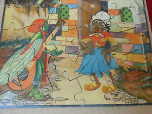 Vintage Antique Chinese Fable Picture Jigsaw Puzzle
