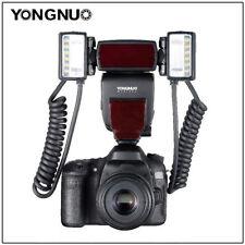 Yongnuo YN24EX Macro TTL Flash Speedlite w/ 2pcs Flash Head + 4pcs Adapter Rings