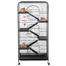 52'' Animal Habitat Cage w/Stand and Feeder Ferret Chinchilla Small Animal House