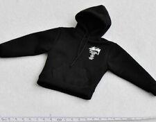 "SUPERMC SUPERMCTOYS 1/6th black Sweatshirt Model for 12"" Action"